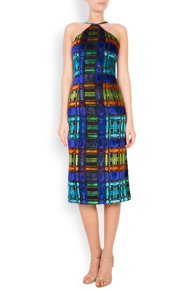 ALLYSON midi multicoloured halter dress Womanland by Irina Mazilu image 0