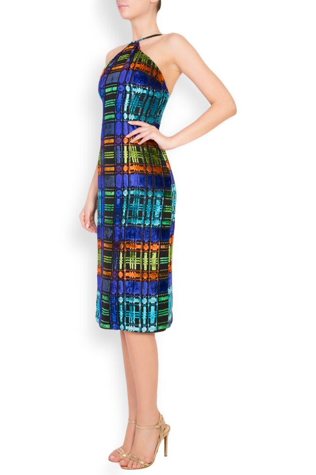 ALLYSON midi multicoloured halter dress Womanland by Irina Mazilu image 1