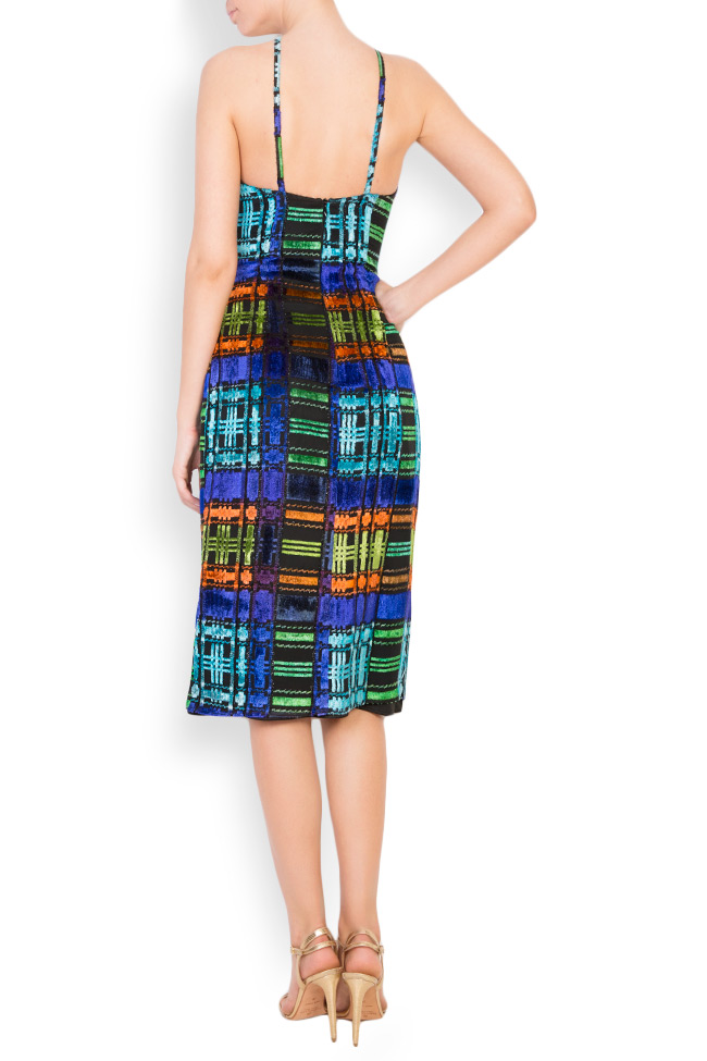 ALLYSON midi multicoloured halter dress Womanland by Irina Mazilu image 2