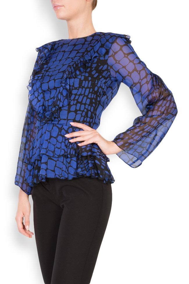 Bluza din voal cu imprimeu cu efect de sarpe Womanland by Irina Mazilu imagine 1
