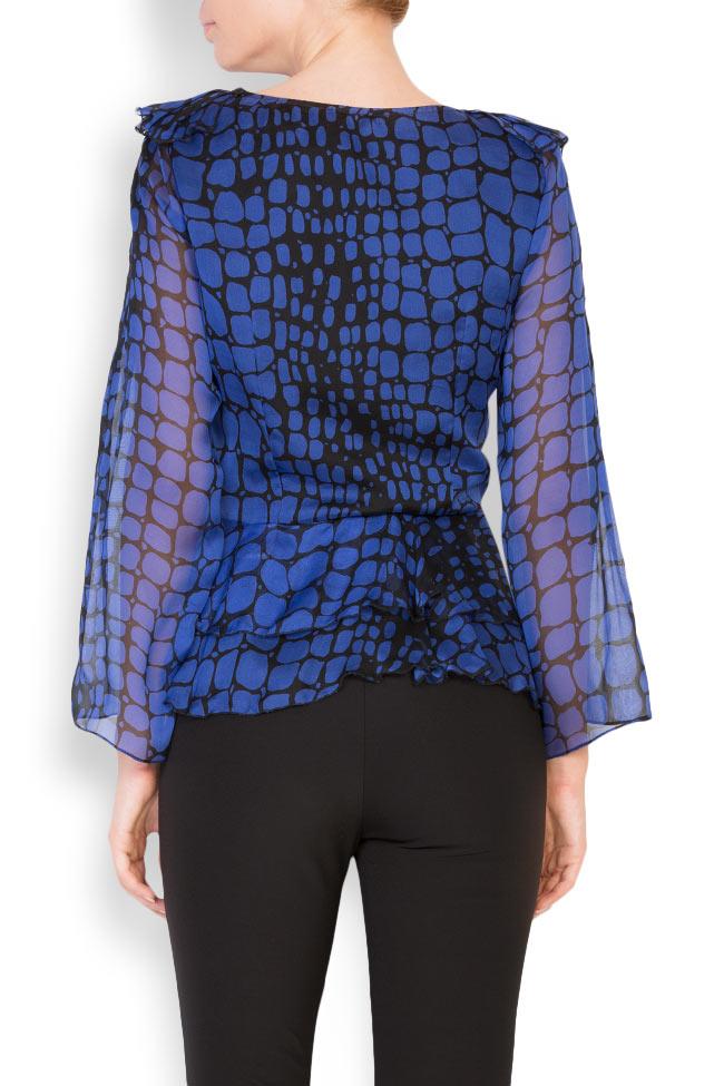 Bluza din voal cu imprimeu cu efect de sarpe Womanland by Irina Mazilu imagine 2