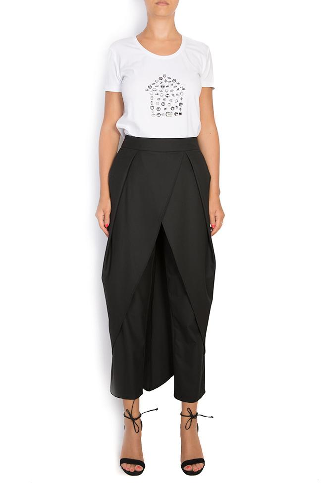Pantalon large en crêpe avec plis Bluzat image 0
