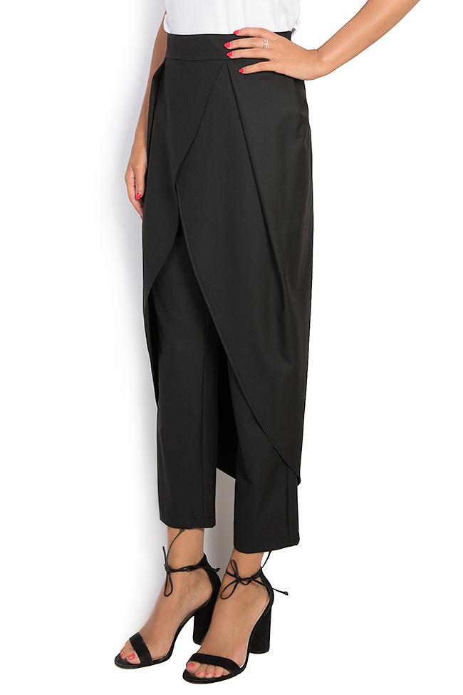 Pantalon large en crêpe avec plis Bluzat image 1