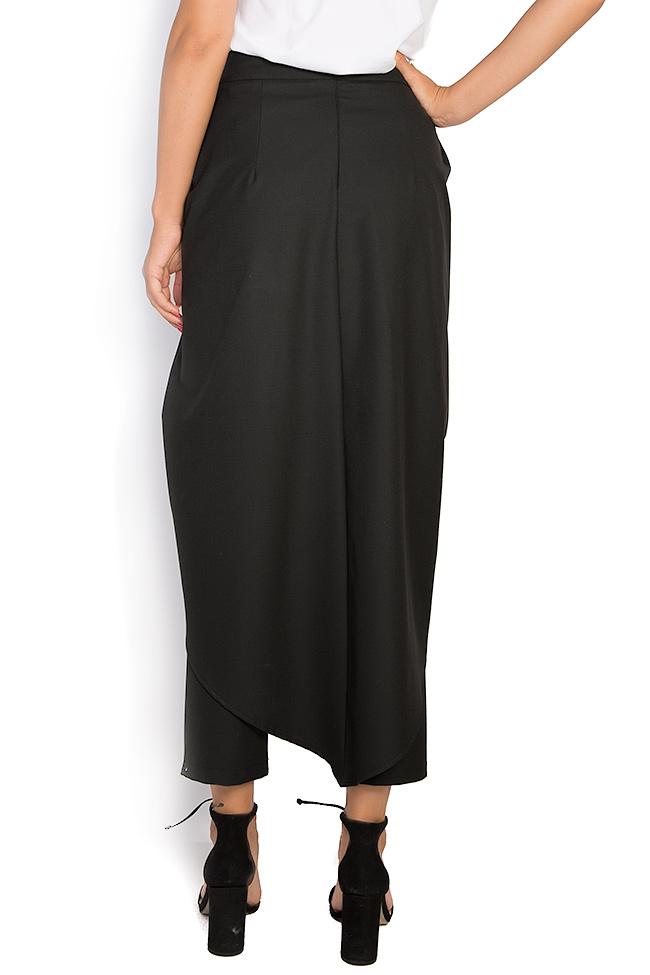 Pantalon large en crêpe avec plis Bluzat image 2