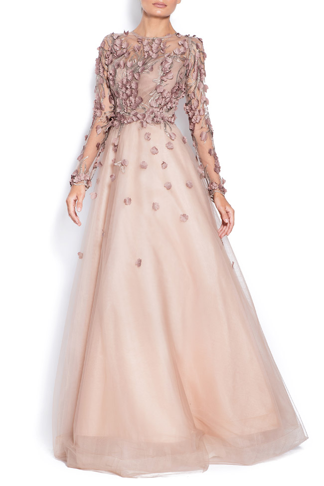 Embroidered tulle gown Bien Savvy image 0