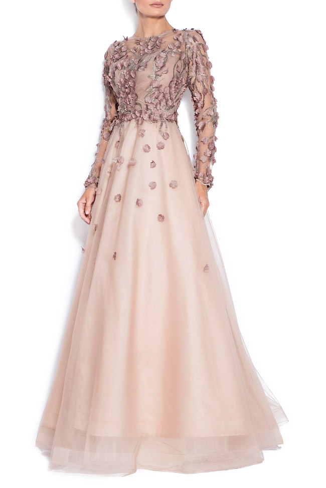 Embroidered tulle gown Bien Savvy image 1