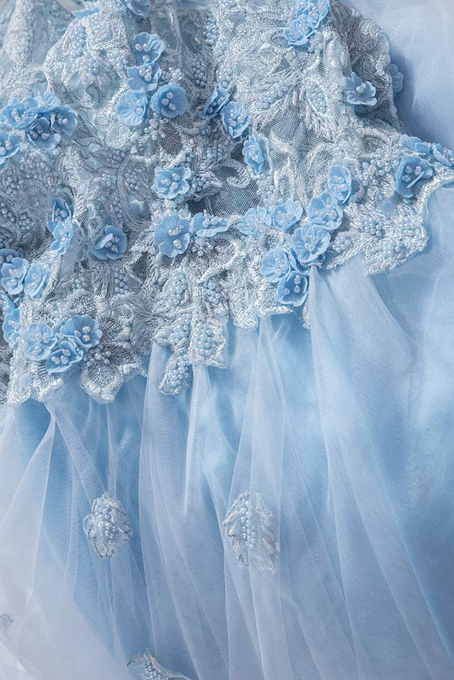 Sky embroidered silk tulle gown Bien Savvy image 4