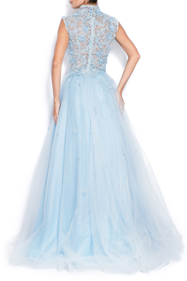 Sky embroidered silk tulle gown Bien Savvy image 2