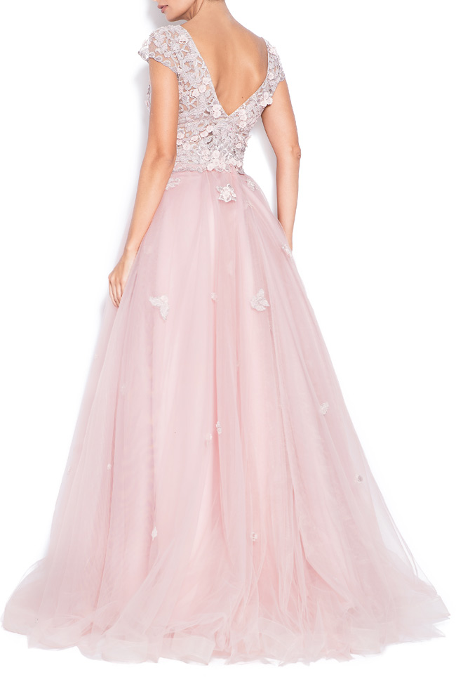 Sea embroidered silk tulle gown Bien Savvy image 2