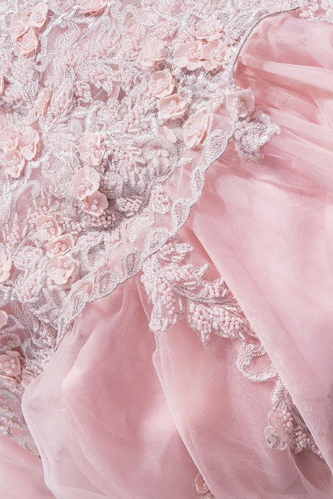Sea embroidered silk tulle gown Bien Savvy image 4