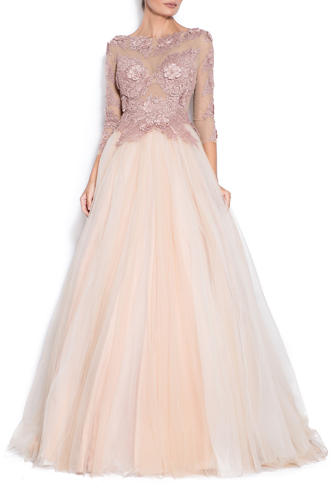 Athena embroidered silk tulle gown Bien Savvy image 0