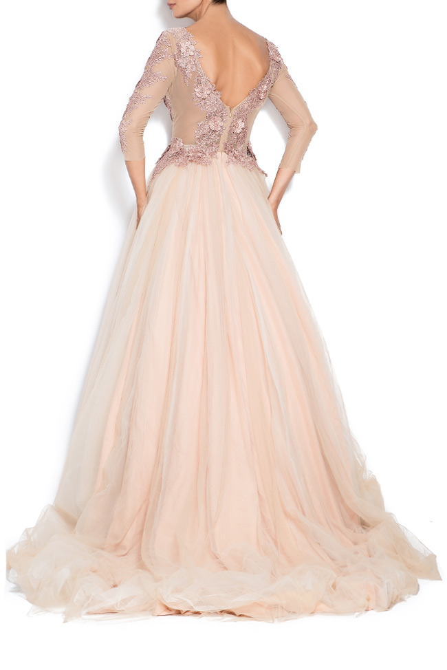Athena embroidered silk tulle gown Bien Savvy image 2