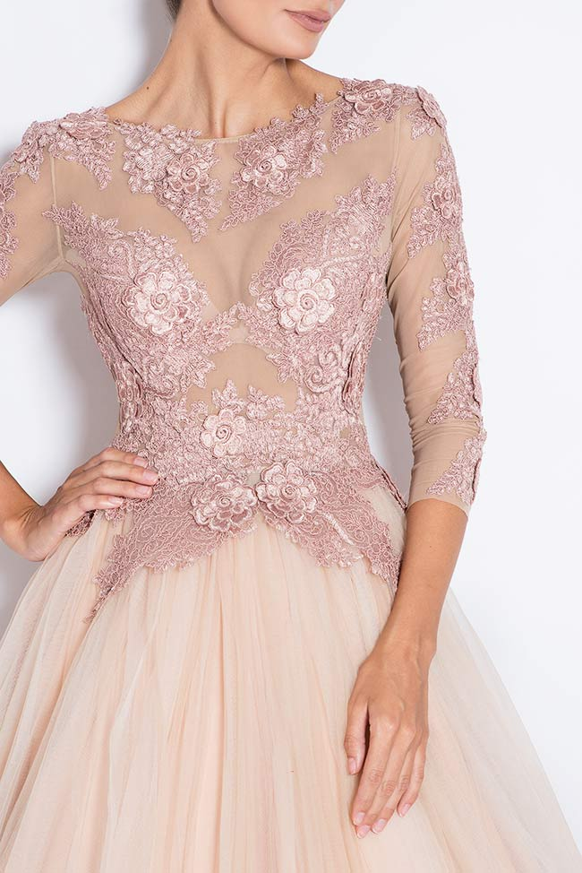 Athena embroidered silk tulle gown Bien Savvy image 3