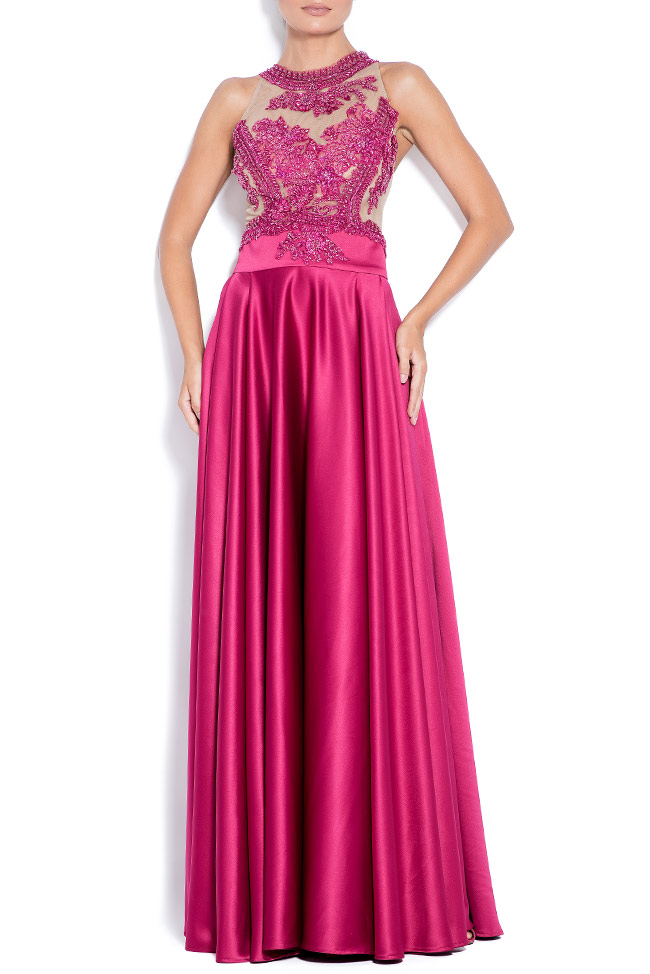 Love embroidered taffeta gown Bien Savvy image 0