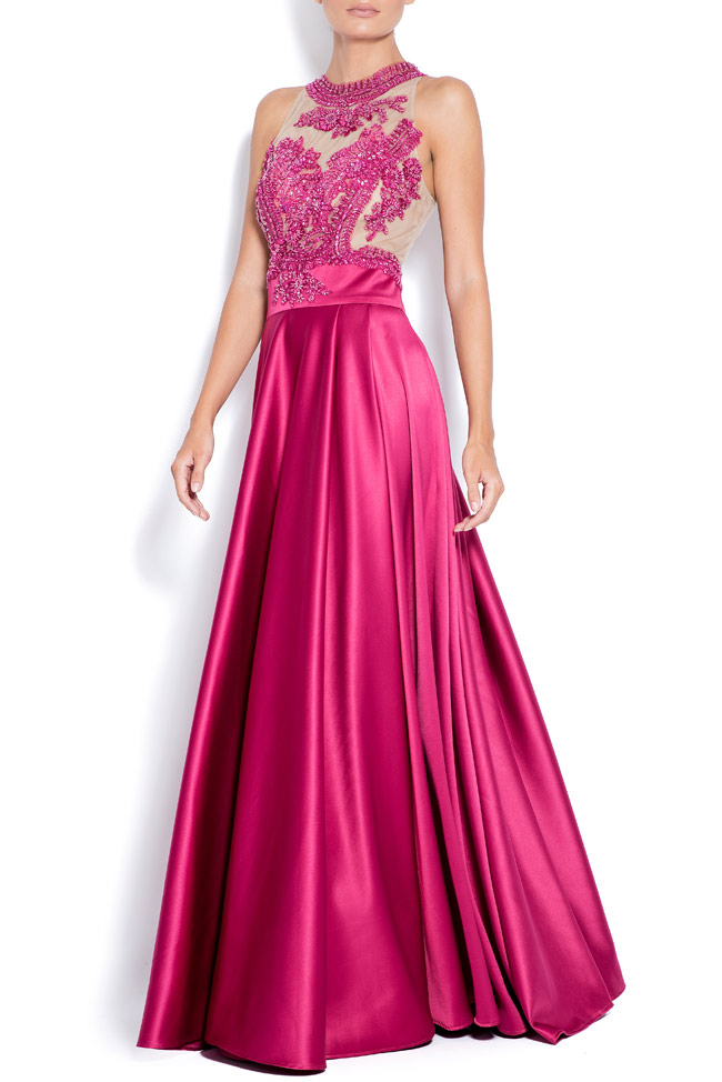 Love embroidered taffeta gown Bien Savvy image 1