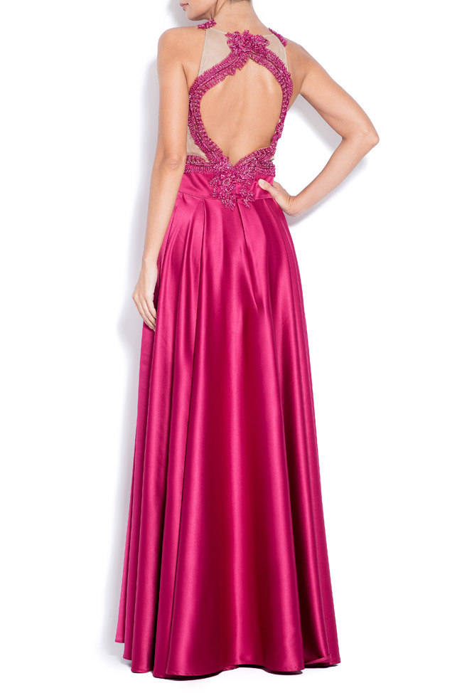 Love embroidered taffeta gown Bien Savvy image 2