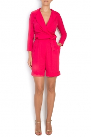 LUWA Belted crepe playsuit