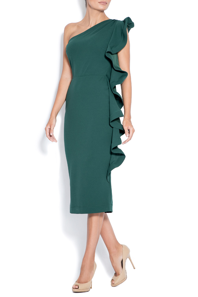 Emma asymmetric ruffled crepe dress  Love Love  image 1