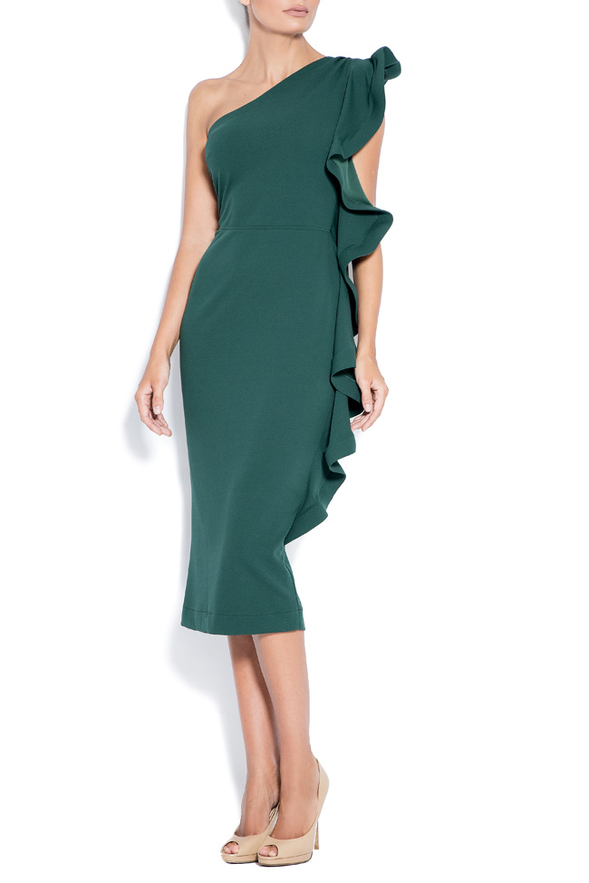 Emma asymmetric ruffled crepe dress  Love Love  image 0