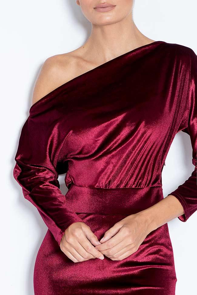 Robe asymétrique en velours Adela Love Love  image 3