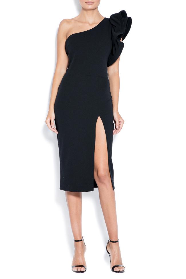 Aida one-shoulder ruffled crepe mini dress Love Love  image 0