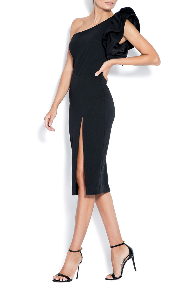 Aida one-shoulder ruffled crepe mini dress Love Love  image 1