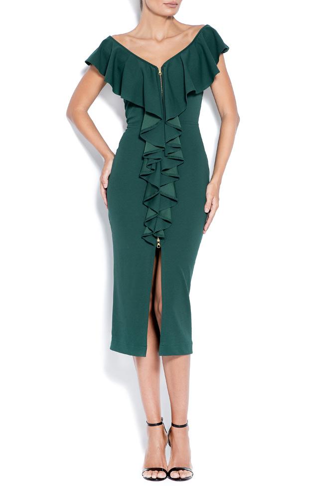 Adelina off-the-shoulder crepe midi dress Love Love  image 0