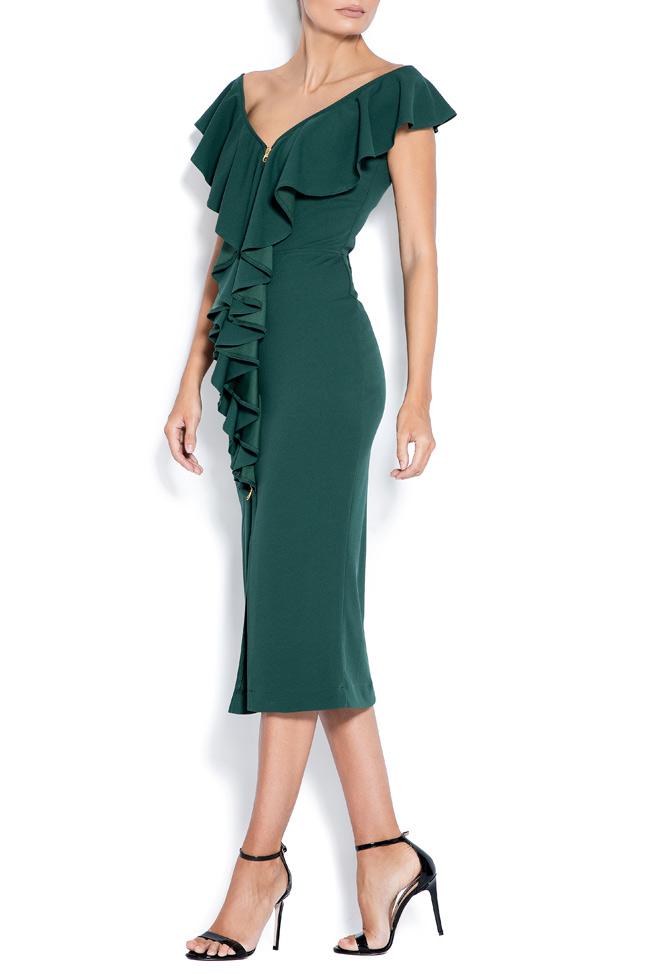 Adelina off-the-shoulder crepe midi dress Love Love  image 1