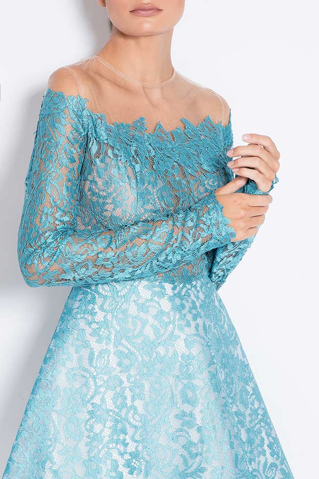 Spirit of Flowers cold-shoulder lace midi dress Love Love  image 3