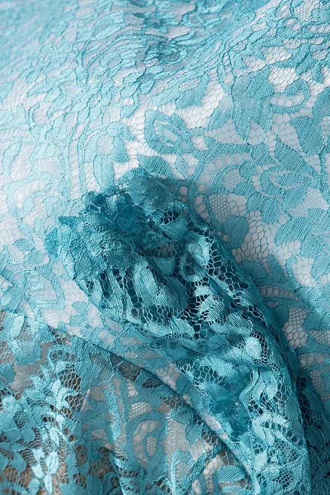 Rochie din dantela cu umerii goi Spirit of Flowers Love Love  imagine 4