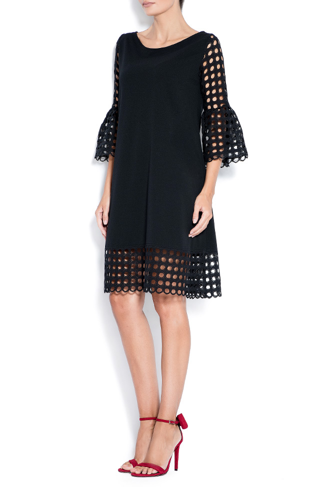 Andra perforated lace and crepe mini dress Love Love  image 1