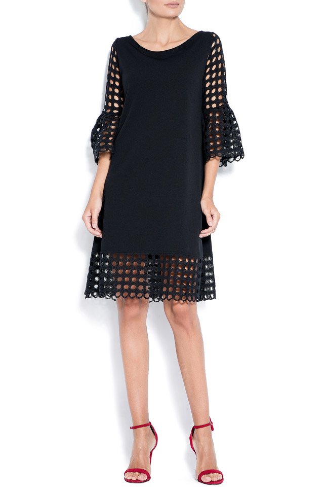 Andra perforated lace and crepe mini dress Love Love  image 0