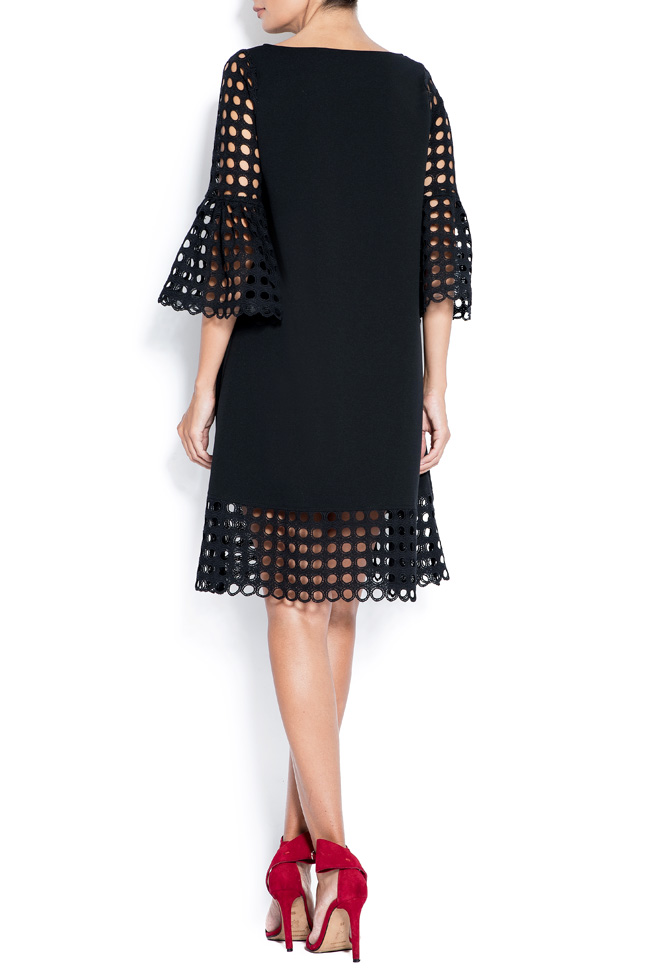Andra perforated lace and crepe mini dress Love Love  image 2