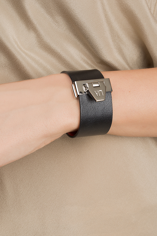 Carpe Noctem eco-brass leather cuff LIA image 3
