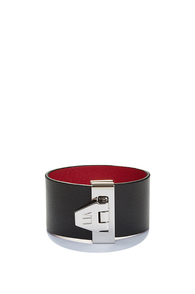 Carpe Noctem eco-brass leather cuff LIA image 0