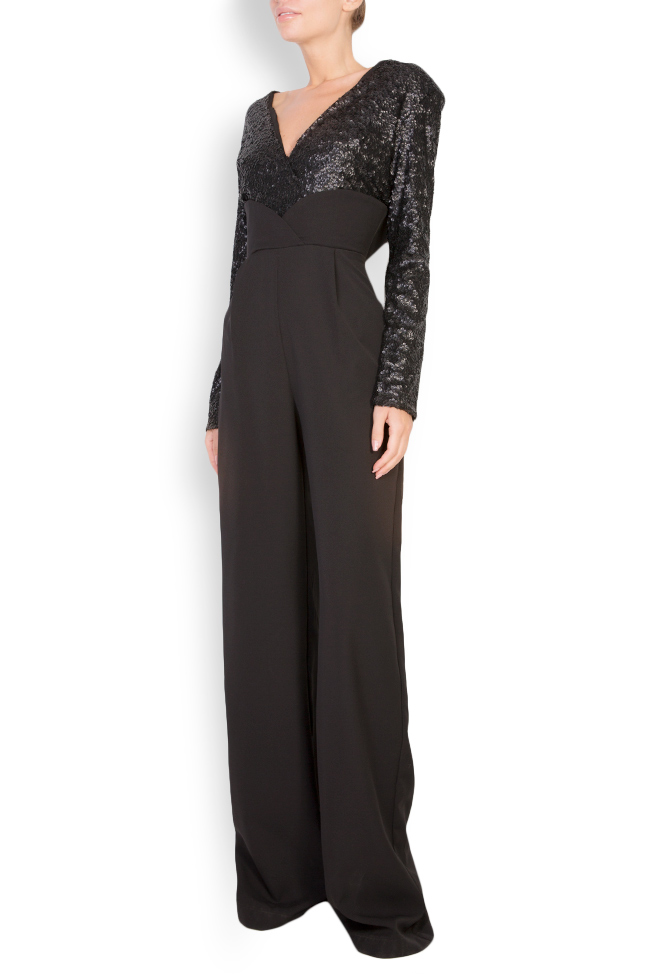 Sequined stretch-crepe jumpsuit Bluzat Cocktail image 1