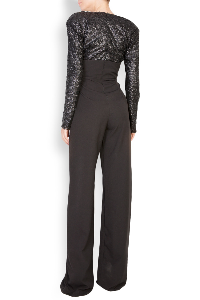Sequined stretch-crepe jumpsuit Bluzat Cocktail image 2