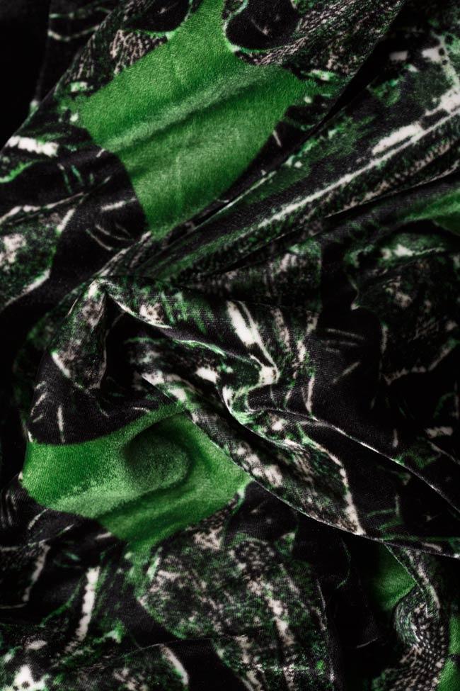 Jacheta din catifea de matase naturala imprimata Argo by Andreea Buga imagine 4