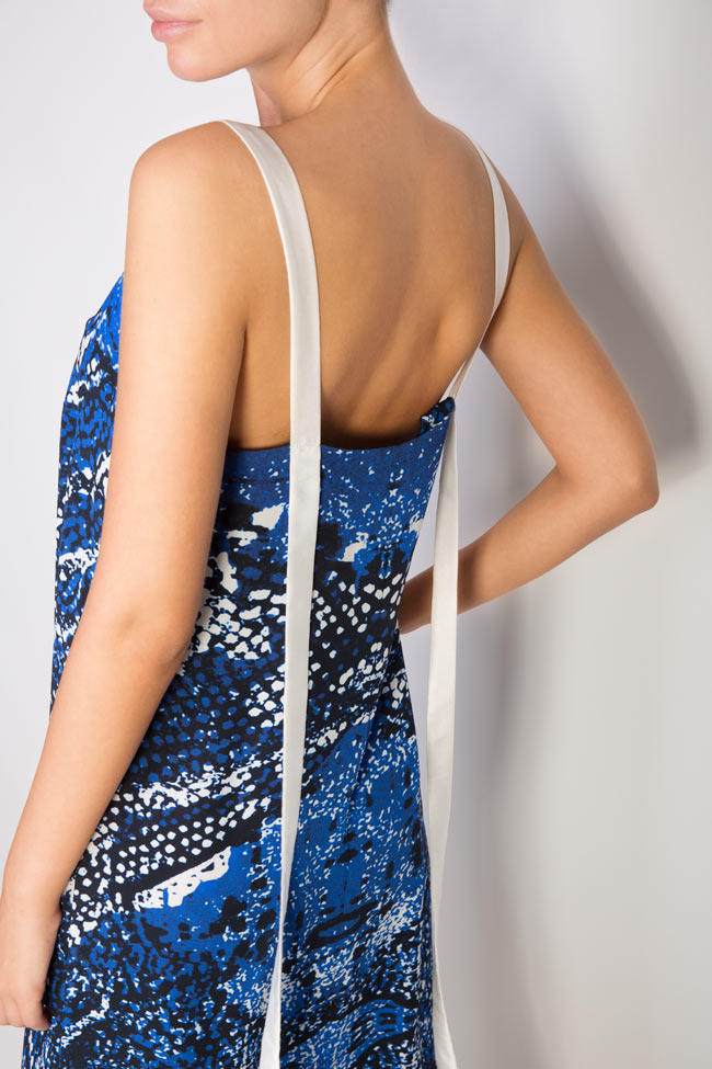 Robe en soie imprimée Netting Argo by Andreea Buga image 3