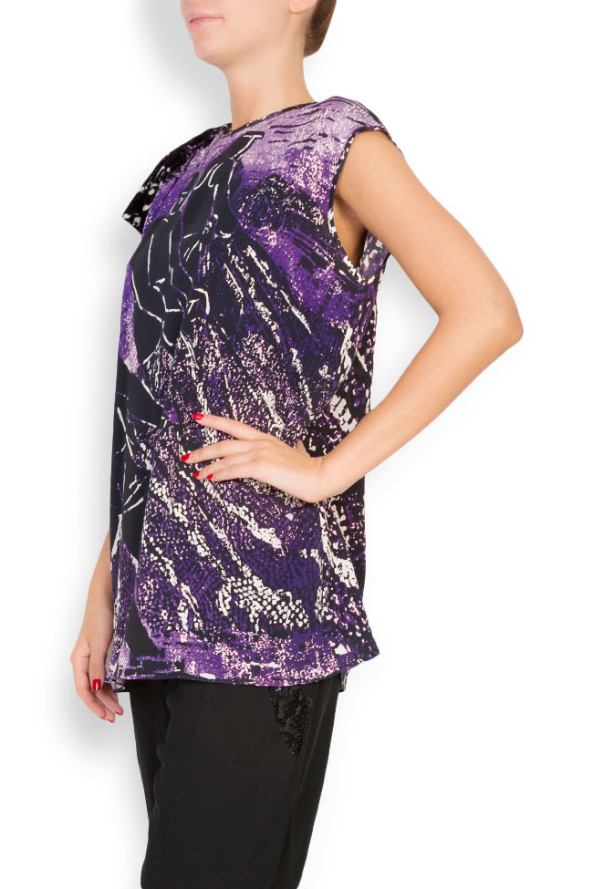 Printed silk top Argo by Andreea Buga image 1
