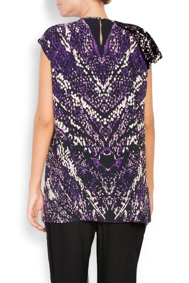 Printed silk top Argo by Andreea Buga image 2