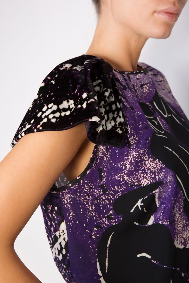 Printed silk top Argo by Andreea Buga image 3