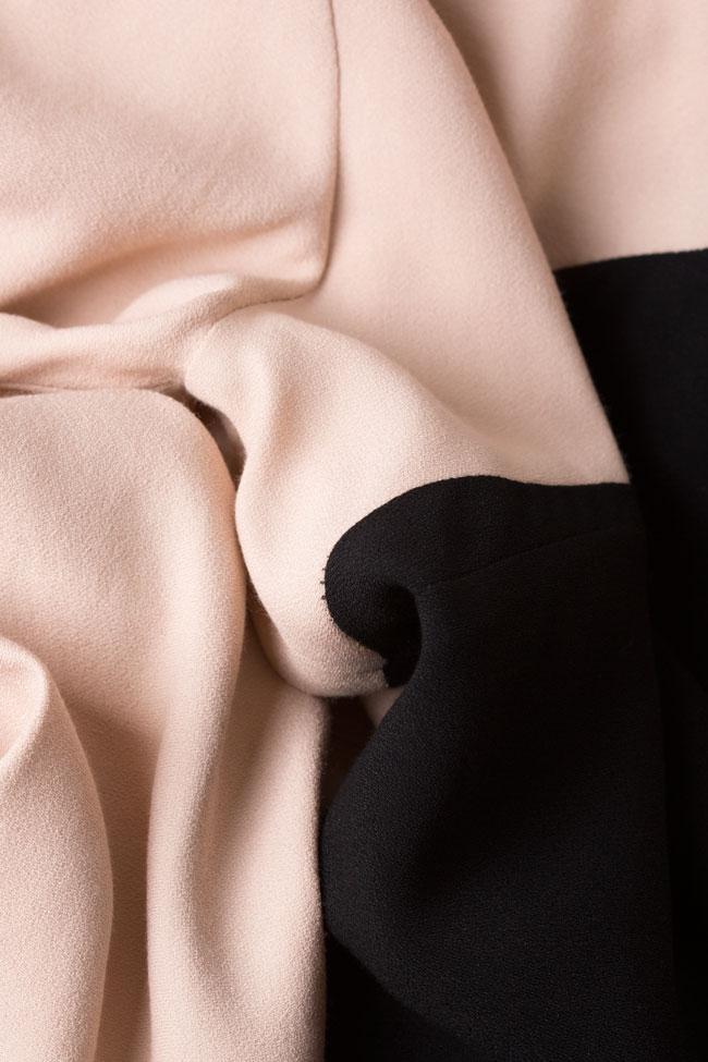 Bluza bicolora din viscoza Lena Criveanu imagine 4