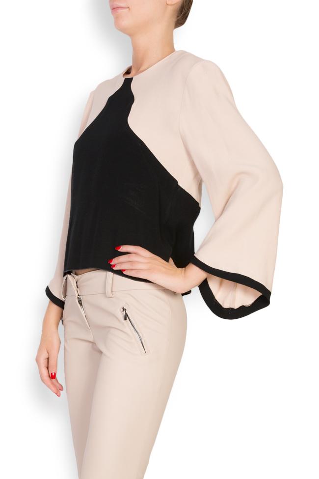 Bluza bicolora din viscoza Lena Criveanu imagine 1