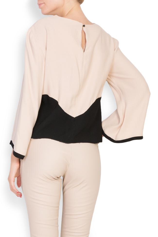 Bluza bicolora din viscoza Lena Criveanu imagine 2