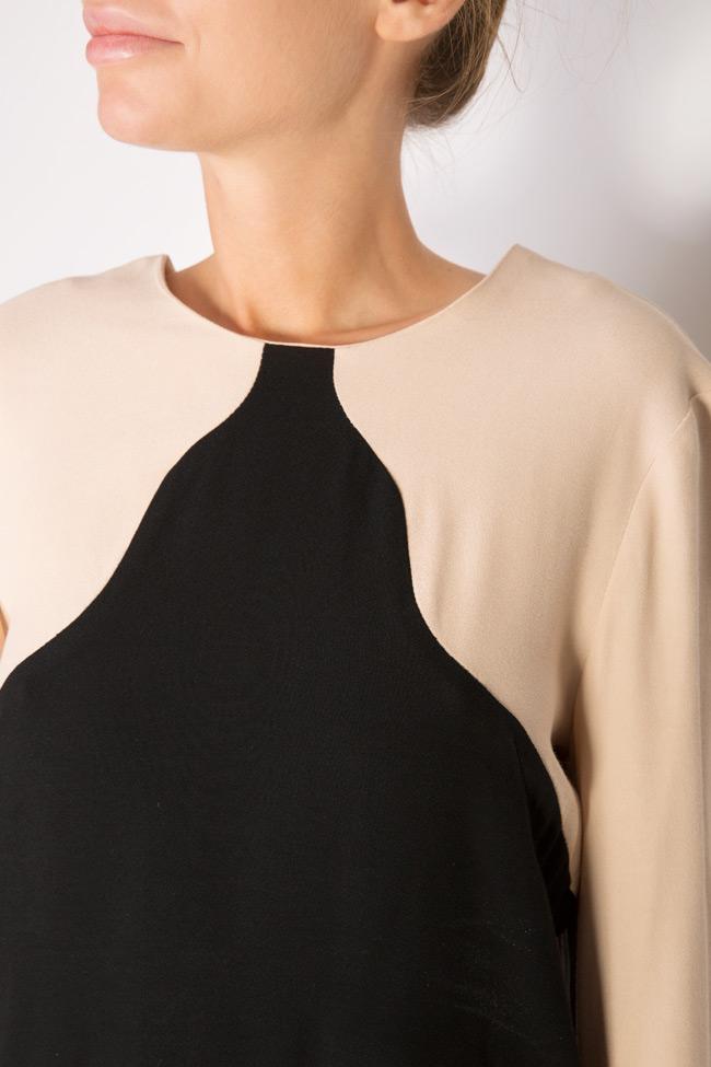 Bluza bicolora din viscoza Lena Criveanu imagine 3