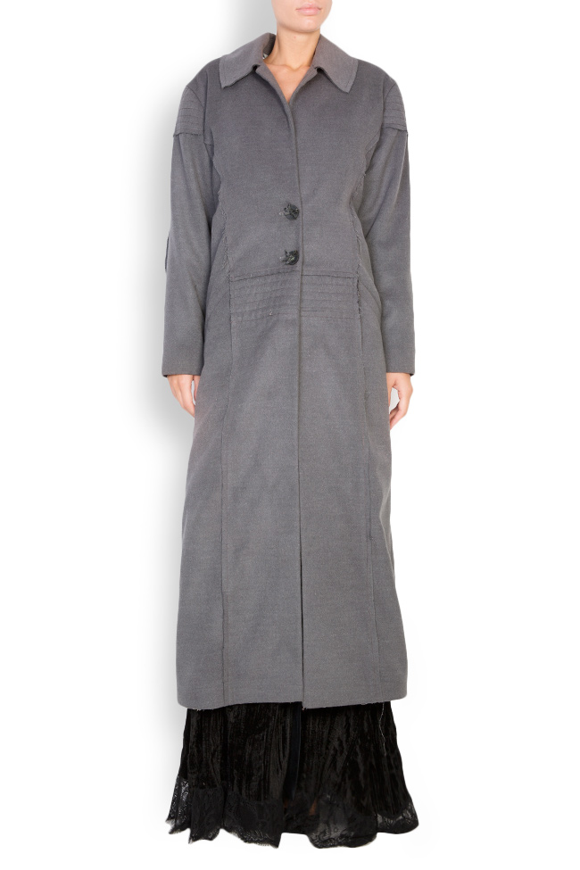 Pleated wool-blend coat Elena Perseil image 0