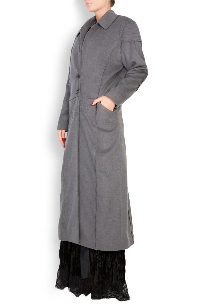Pleated wool-blend coat Elena Perseil image 1
