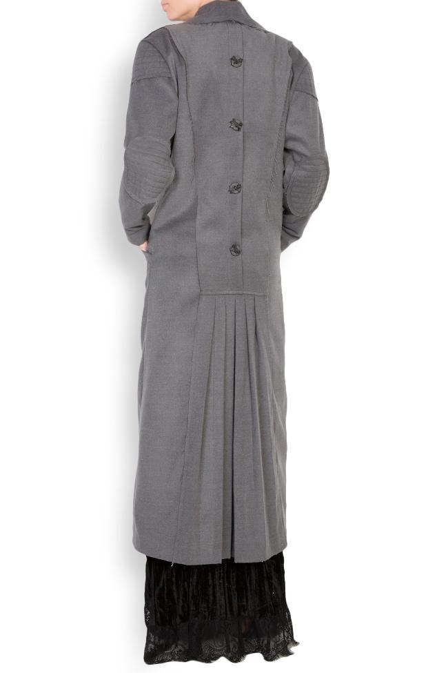 Pleated wool-blend coat Elena Perseil image 2