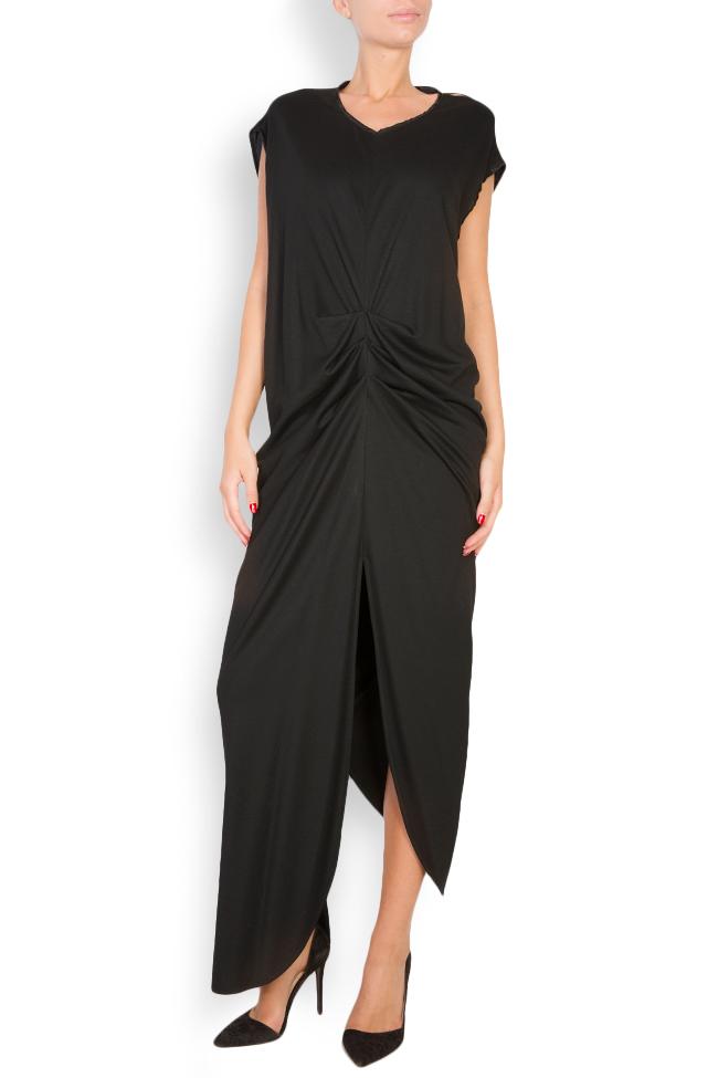 Robe asymétrique en laine Elena Perseil image 0